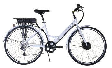 E-Plus New White 27 inch Wheel Size Hybrid Electric Bike