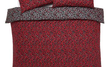Argos Home Red Leopard Bedding Set - Double