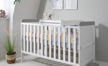 Tutti Bambini Rio Cot Bed & Changer with Mattress - White