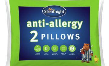 Silentnight Anti-Allergy Medium/ Soft Pillow - 2 Pack