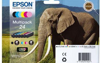 Epson 24 Elephant Ink Cartridges - Black & Colour