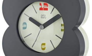 Orla Kiely Alarm Clock - Blue & Cream
