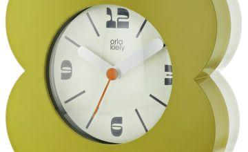 Orla Kiely Alarm Clock - Olive & Cream