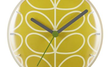 Orla Kiely Wall Clock - Mustard