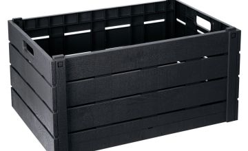 Strata 60 Litre Wood Effect Folding Crate