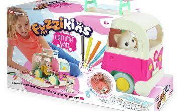 Fuzzkins Fuzzi Pink Campervan Playset