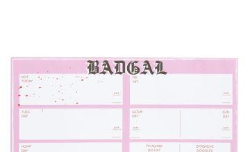Skinnydip Bad Gal Weekly Planner Pad