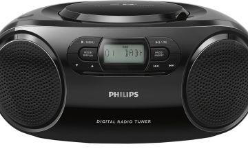 Philips AZB500 DAB CD Boombox – Black