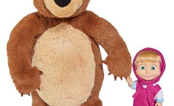 Masha and the Bear Soft Toy Bear and Masha Doll