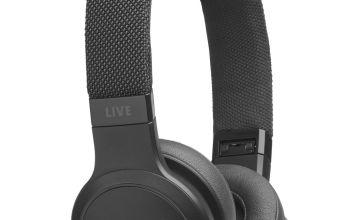 JBL Live 400 On-Ear Wireless Headphones - Black