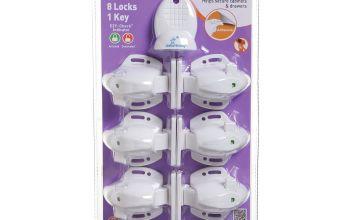 Dreambaby Adhesive Mag Lock Set - 8 Locks + 1 Magnetic Key