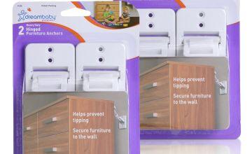 Dreambaby Heavy-Duty Hinged Furniture Straps - Bonus 2 Pack