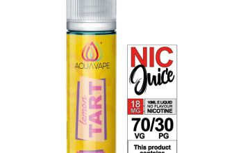 Aquavape Lemon Tart 50ml 0mg with Shot