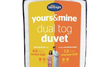 Silentnight Yours and Mine 4.5/ 7.5 Tog Duvet