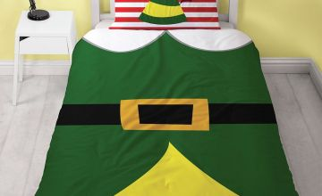 Elf Selfie Christmas Bedding Set - Single