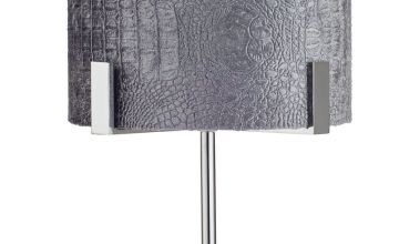 Argos Home Boutique Snake Effect Table Lamp - Grey