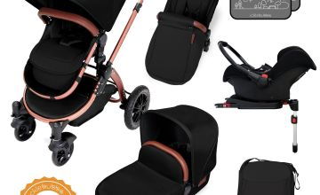Ickle Bubba Stomp V4 ISOFIX Travel System  - Black