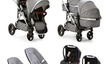 Baby Elegance Culpa Twin Travel System - Grey