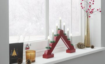 Argos Home Candle Arch Christmas Light - Red