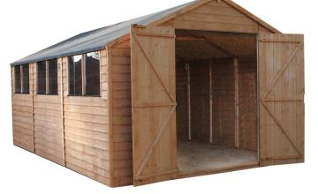 Mercia Wooden 15 x 10ft Overlap Workshop