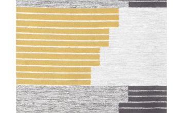 Argos Home Abstract Hand Woven Rug - 120x160cm - Mustard