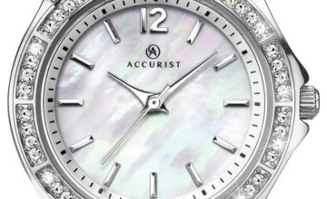 Accurist Ladies Stone Set Stainless Steel Bracelet Watch