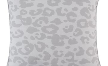 Argos Home Leopard Print Cushion - Grey