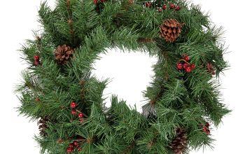 Argos Home Berry and Pine Cone Christmas Wreath.