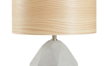 Argos Home Skandi Concrete Lamp Veneer Shade - Grey