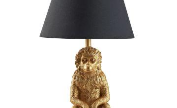 Argos Home Wilderness Monkey Table Lamp - Brass