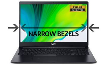 Acer Aspire 3 15.6 Inch FHD A4 4GB 1TB Laptop - Black