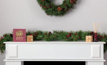 Argos Home 152.4cm Berry and Pine Cone Christmas Garland