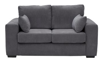Argos Home Eton 2 Seater Fabric Sofa - Charcoal
