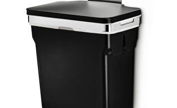 simplehuman 10L In-Cabinet Cupboard Bin - Black