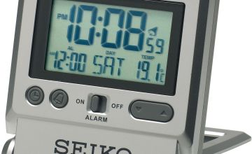 Seiko LCD Travel Alarm Clock