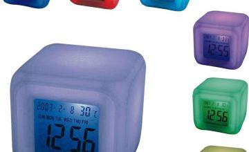 Mayhem UK Aurora 30 Second Glow Colour Change Alarm Clock