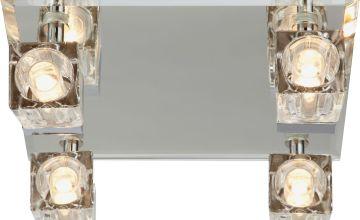 Argos Home Mira 4 Glass Cube Bathroom Spotlights - Chrome