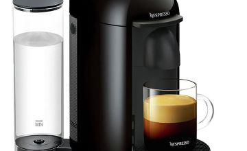 Krups Nespresso VertuoPlus Pod Coffee Machine - Black