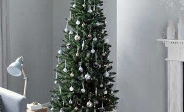 Argos Home 6ft  Slim Christmas Tree -  Evergreen