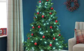 Argos Home 6ft Pre-Lit Spruce Christmas Tree - Green