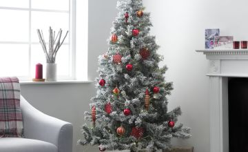 Argos Home 6ft Snow Covered Christmas Tree - Green