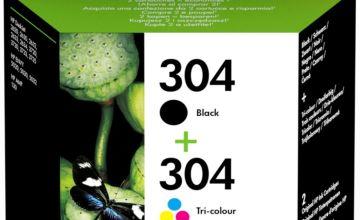 HP 304 Original Ink Cartridges - Black & Colour