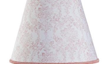 Argos Home Le Marais Printed Tapered Shade - Pink & White