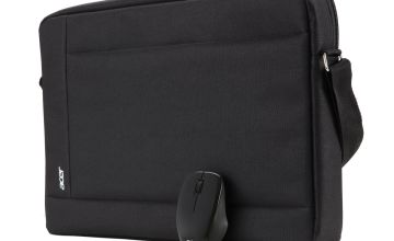 Acer 15.6 Inch Laptop Carry Case and Wireless Mouse - Black