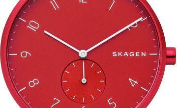 Skagen Aaren Kulor Red Silicone Strap Watch