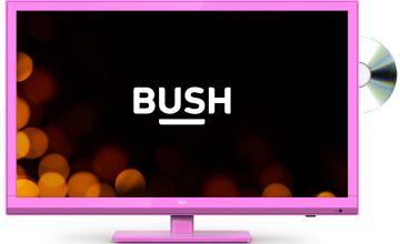 Bush 24 Inch HD Ready LCD Freeview TV/DVD Combi - Pink