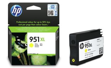 HP 951XL High-Yield Original Ink Cartridge - Yellow