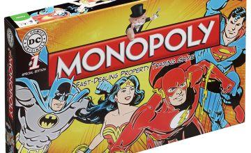 DC Comics Retro Monopoly Board Game.