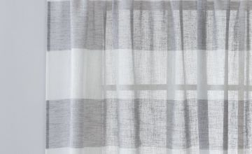 Argos Home Linen Look Stripe Voile Curtain Panel
