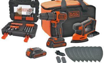 Black + Decker Cordless Hammer Drill & Mouse with Batteries